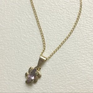 """Jewelry - NEW Amethyst Stone 14kt Gold Vermeil 18"""" Necklace"""